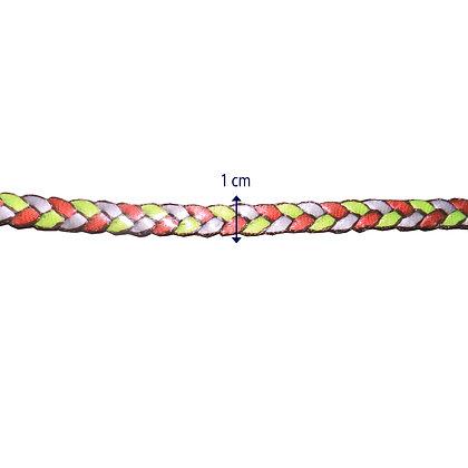 FB32 - Fita bordada fina trançada - 1 cm