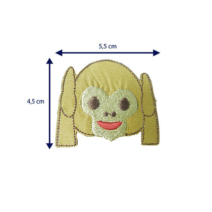 DXT104 - Patche termocolante emoji macaco