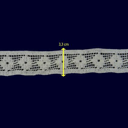 DXR119 - Entremeio 3,3 cm 100% algodão
