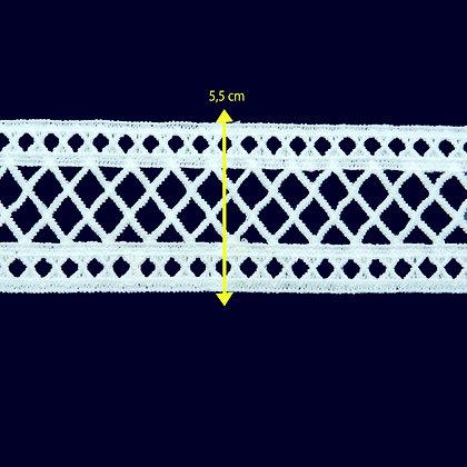 DXR597 - Entremeio 5,5 cm 100% poliéster
