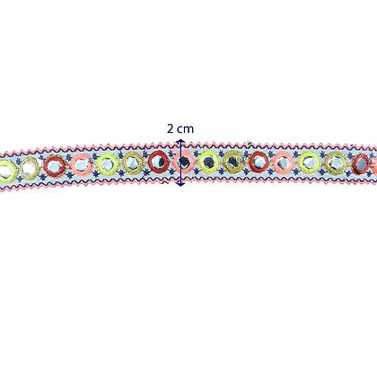 GLX97 -Galão bordado com 2 cm de largura