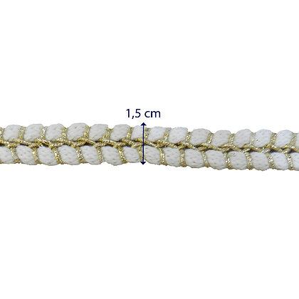 GLX108 - Galão trançado 1,5 cm branco