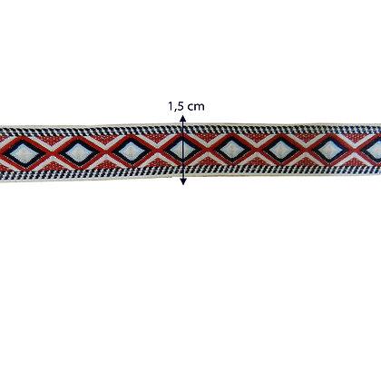 GLX64 - Galão vermelho e branco 1,5 cm