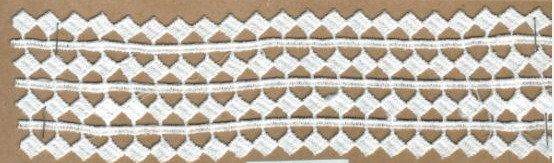 DXR691 - Entremeio 5,5 cm 100% poliéster