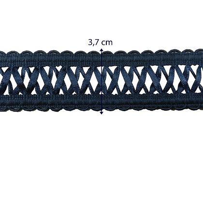 GLX117 - Galão com fitas de cetim - 3,7 cm