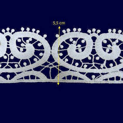 DXR494 - Entremeio 5,5 cm 100% poliéster