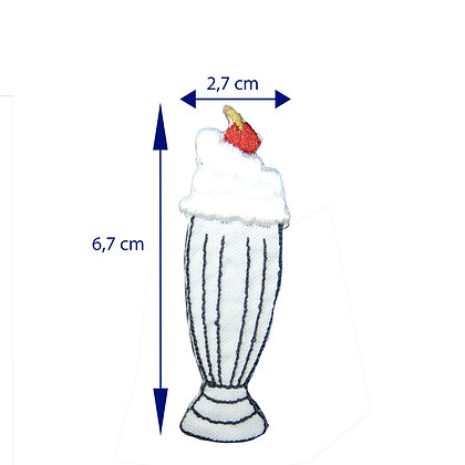 DXT162 - Patch termocolante - Milkshake