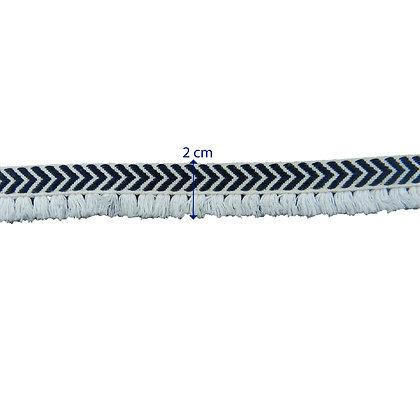 GLX17 - Galão 2 cm com franjas