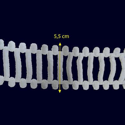 DXR566 - Entremeio 5,5 cm 100% poliéster