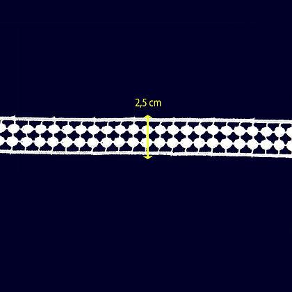DXR890 - Entremeio 2,5 cm 100% poliéster