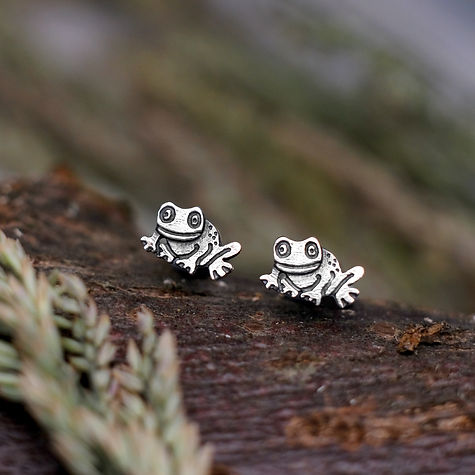 Little Frog Stud Earrings