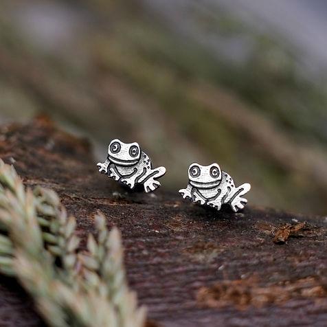Little Frog Stud Earrings