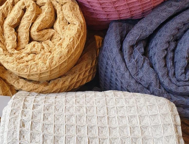 Plaids en coton (4 coloris)