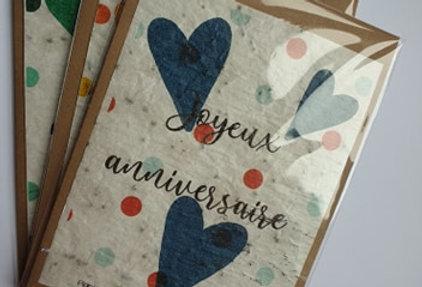 """Carte à planter """"Joyeux anniversaire"""""""