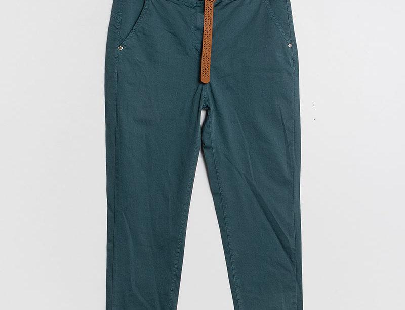 Pantalon droit pétrole blue
