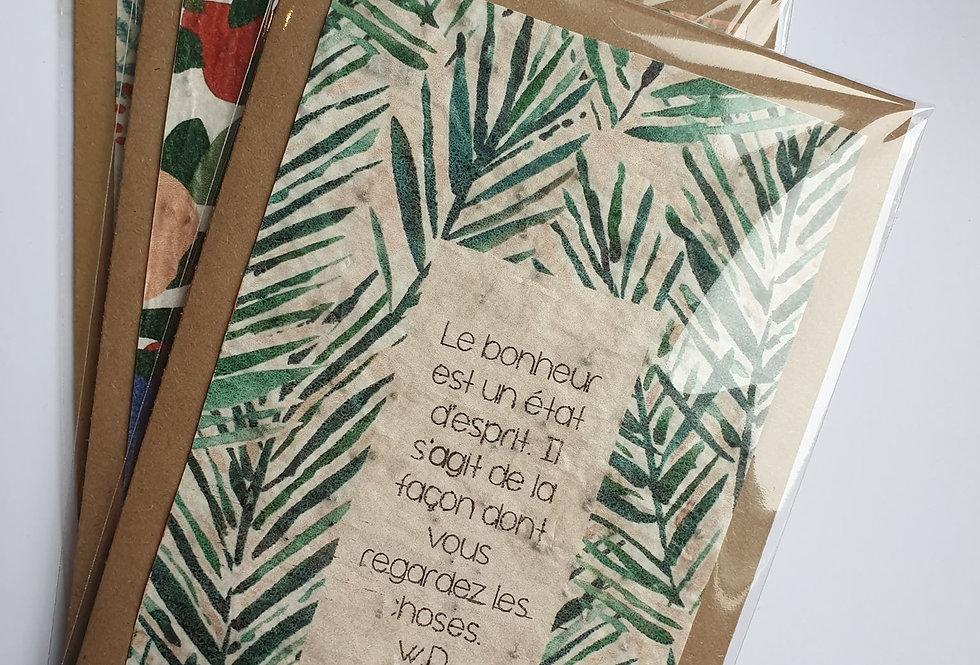 """Carte à planter """"Bonheur"""" #2"""