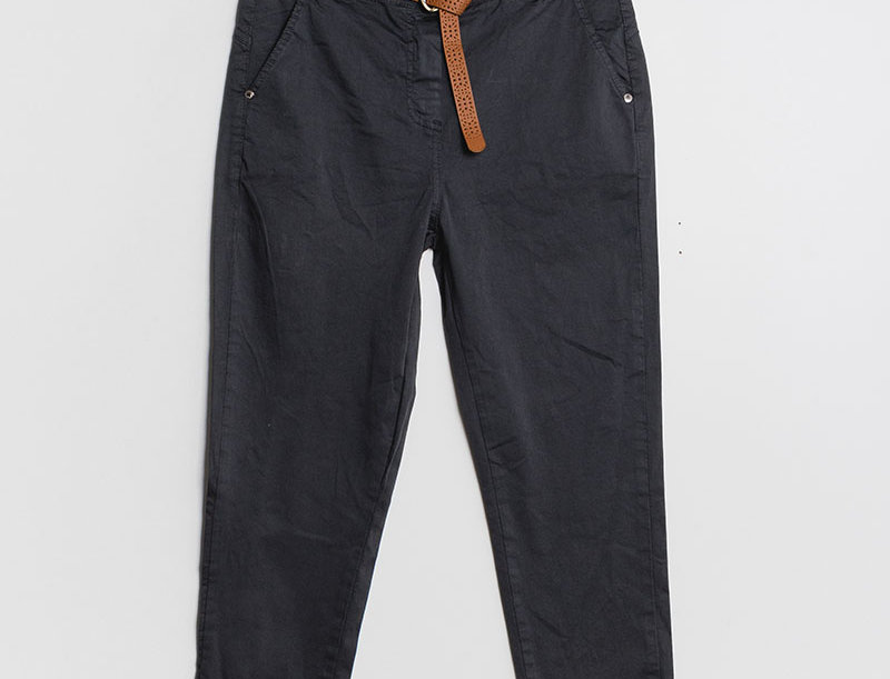 Pantalon droit anthracite