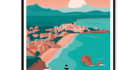 Affiche Biarritz