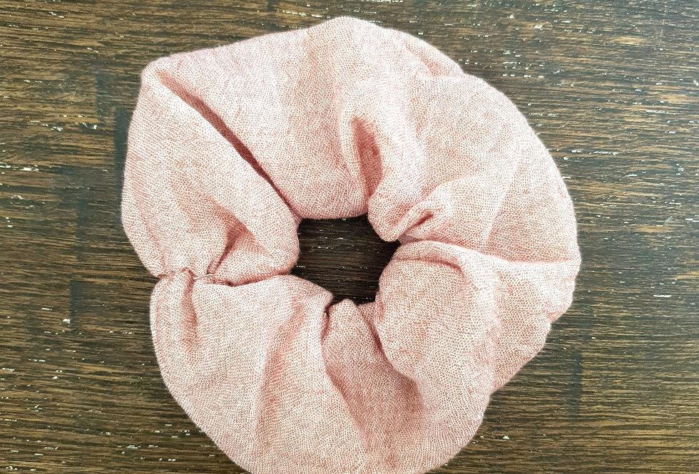 Scrunchy rose chiné