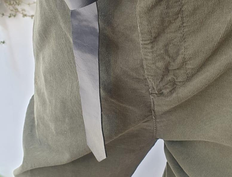 Pantalon ceinturé velours côtelé