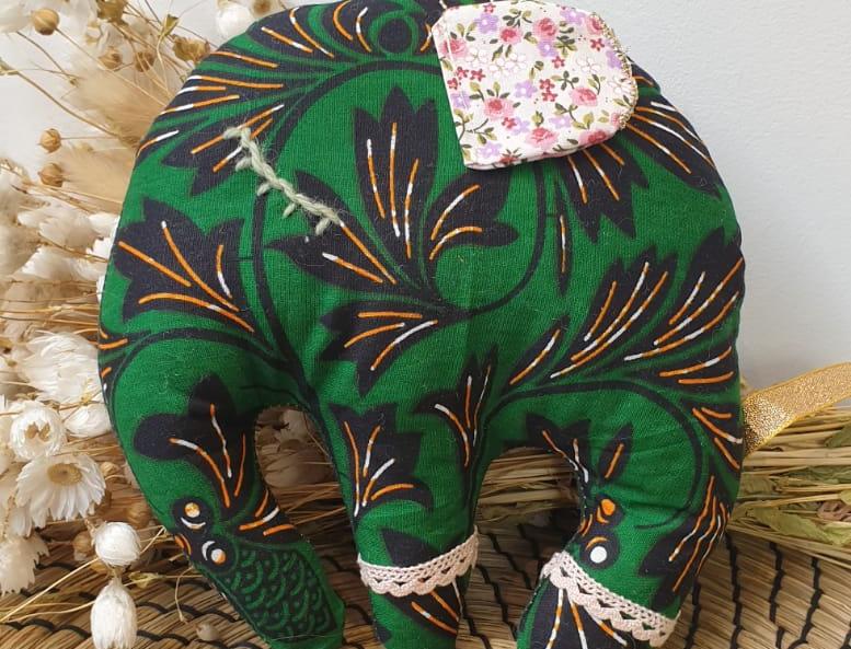 Doudou déco éléphant wax