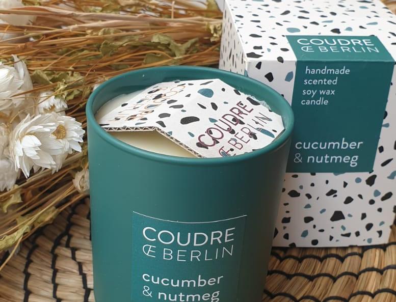 Bougie COUDRE BERLIN Concombre Noix de muscade