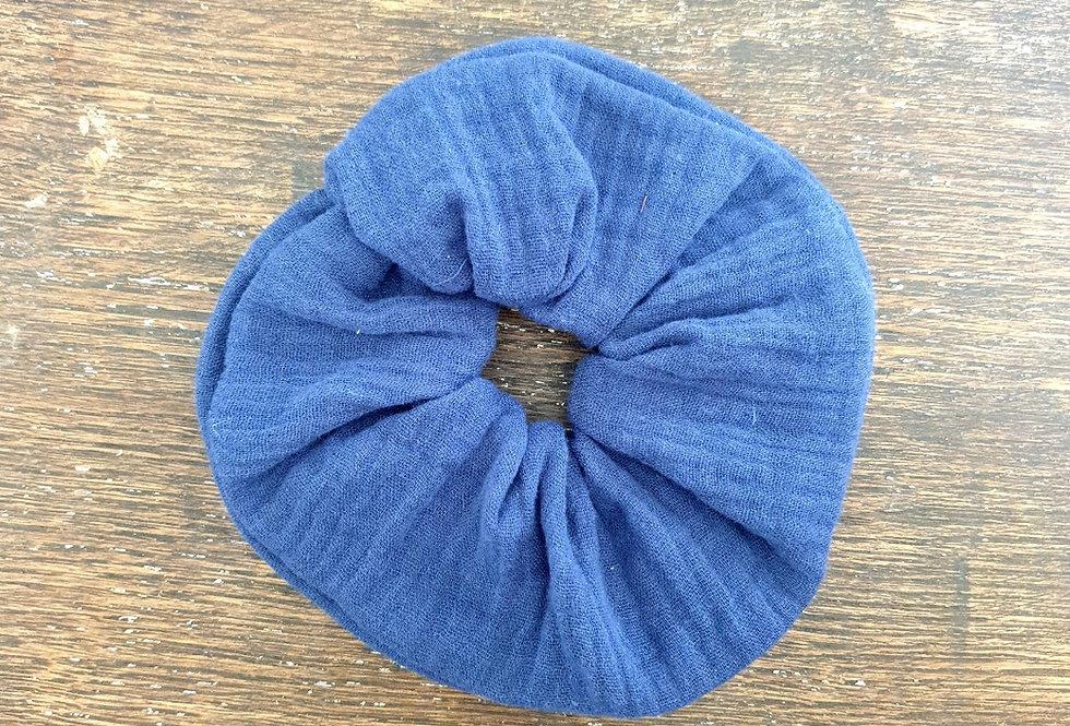 Scrunchy bleu marine