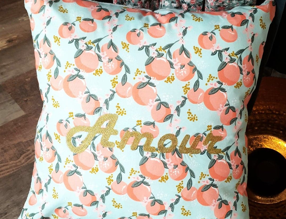 Coussin Spring brodé
