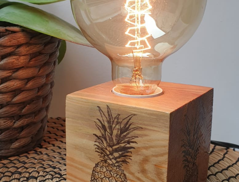 Lampe ananas - LMS Wood Concept