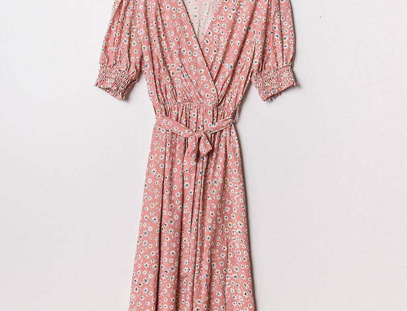 Robe longue lou rose