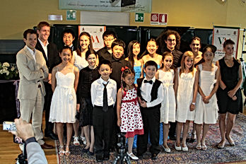 young talent and students in concert