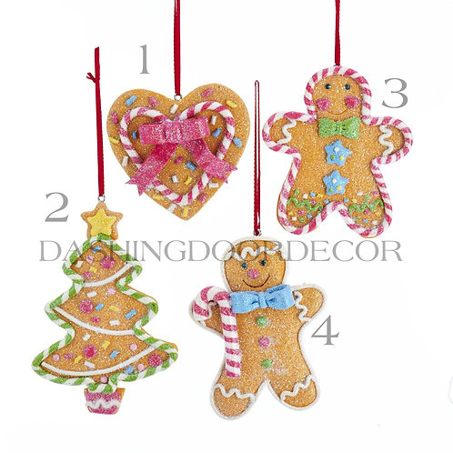 Fake Gingerbread Peppermint Cookie Ornaments