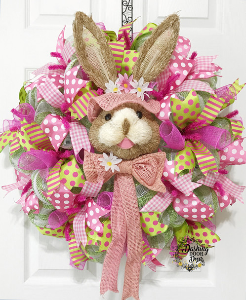Facebook live spring pink easter bunny wreath kit diy dashingdoordecor 1 30 18 facebook live pink easter bunny wreath kit diy do it yourself kit solutioingenieria Gallery