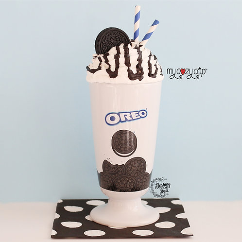 Oreo Milkshake Mug w/Coordinating My Cozy Cap™ Faux Whip Mug Topper