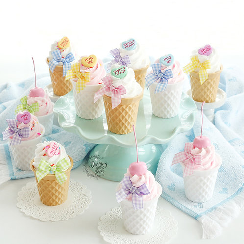 Fake Mini Ice Cream Cone Cups for Display