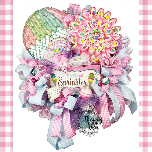 Life is Better with Sprinkles Everyday-Valentine's Day Wreath