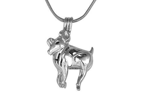 Aries Zodiac Pearl Pendant