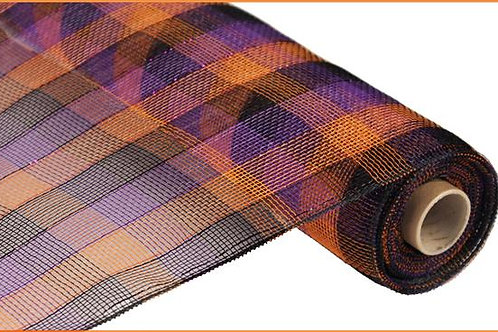 "21"" Poly Deco Mesh: Orange/Black/Purple (10 yards)"