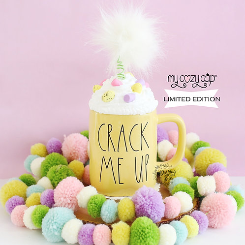 LE My Cozy Cap™ Easter Fluffy Bunny Tail Faux Whip Mug Topper Fits Rae Dunn Mug