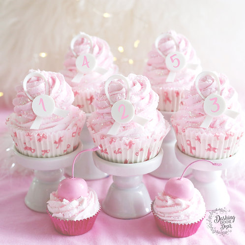 FAUX Cupcake for Breast Cancer Survivor Display Gift