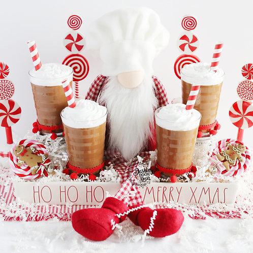 Fake Chocolate Milk for Santa  Decor/Display Prop