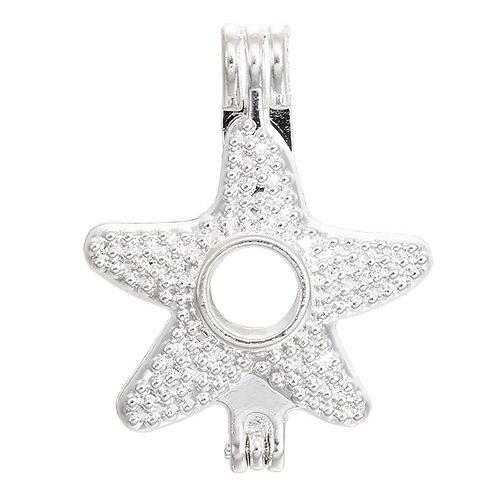 Starfish Pearl Pendant (textured)