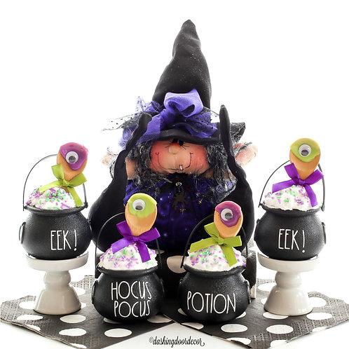 Fake Halloween Cupcake Mini Cauldron