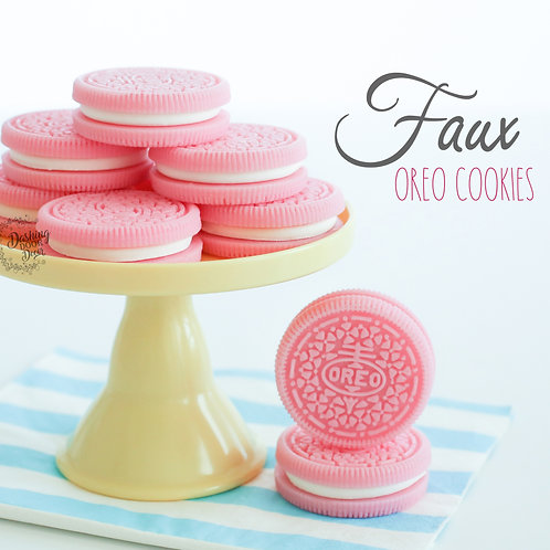 Faux Pink Oreo Cookies for Display