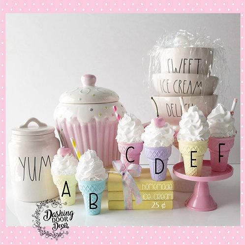 Fake Ice Cream Cones for Decor/Display