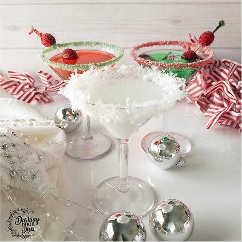 Elegant Christmas Holiday Fake Martini Drinks for Decor/ Display