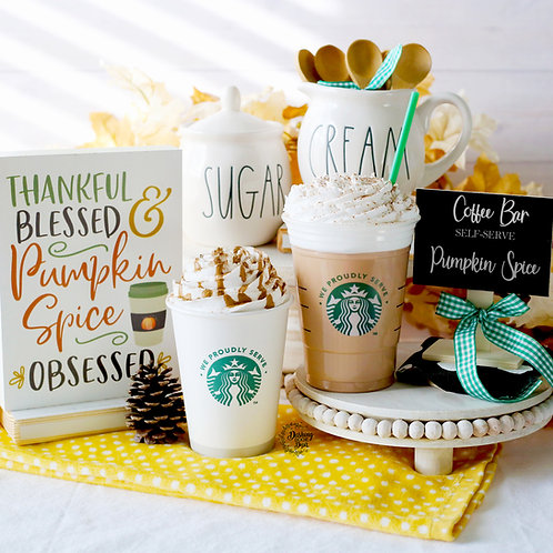 FAKE Pumpkin Spice Latte for Decor/ Display