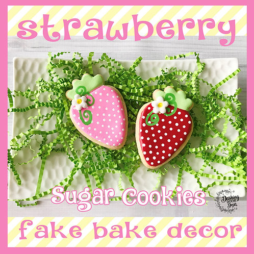 Fake Bake Strawberry Cookies for Display (pink or red)