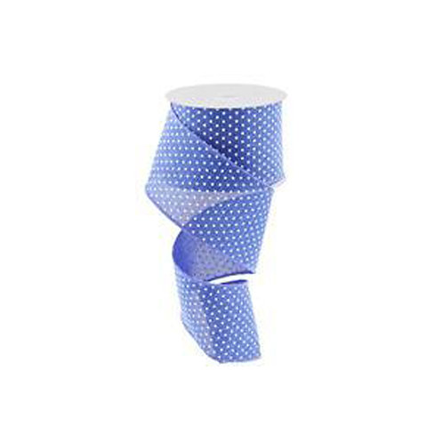 "2.5"" Raised Swiss Dots: Royal Blue/White (10 Yards)"