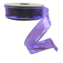 "d. Stevens 1"" PVC Jelly Ribbon: Electric Purple (10 yards)"